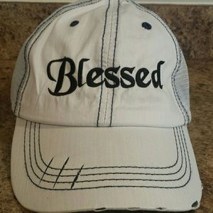 "Accessories - FINAL PRICE: NEW! ""Blessed"" distressed trucker hat"